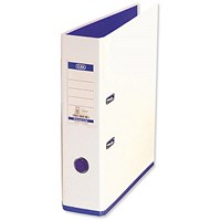 Elba MyColour A4 Lever Arch File, Plastic, 80mm Spine, White & Purple