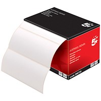 5 Star Address Labels, 89x36mm on Continuous Roll, 250 Labels