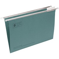 5 Star Suspension Files, V Base, 15mm Capacity, Foolscap, Green, Pack of 50