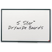 5 Star Lightweight Drywipe Board, Detachable Pen Tray, W1200xH900mm