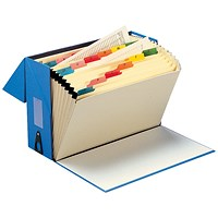 5 Star Expanding Box File, 19 Pockets, A-Z, Foolscap, Blue
