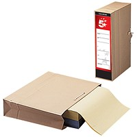 5 Star Storage Bags with Dust Flap, Foolscap, Pack of 25