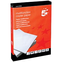 5 Star A3 Multifunctional Paper, White, 80gsm, Ream (500 Sheets)