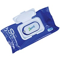 2Work Antibac Hand Wipes - Pack of 50