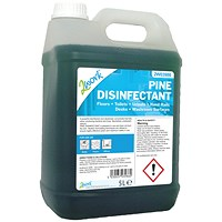 2Work Disinfectant and Deodoriser Fresh Pine 5 Litre Bulk Bottle