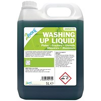 2Work Gentle Washing Up Liquid Fresh Scent 5 - Litre Bottle