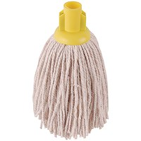 2Work PY Smooth Socket Mop 12oz Yellow (Pack of 10) 101869Y