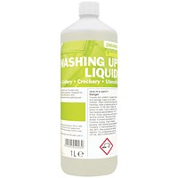 2Work Washing Up Liquid Concentrate Lemon Fragrance 1 Litre