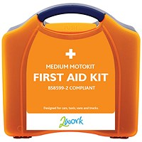 2Work Motokit Portable Vehicle First Aid Box Medium B28599-2