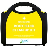 2Work Bio-Hazard Body Fluid Kit with 5 Applications