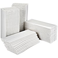 2Work C-Fold Hand Towels, 2-Ply, 15 Sleeves of 157 Sheets
