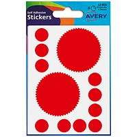 Avery Printed Labels, Company Seal, 51mm, Red, 32-400, 10 x 8 Labels