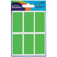 Avery Coloured Labels, 25 x 50mm, Fluorescent Green, 32-221, 10 x 36 Labels