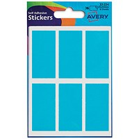 Avery Coloured Labels, 25 x 50mm, Blue, 32-224, 10 x 36 Labels