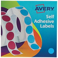Avery Dispenser for 19mm Diameter Labels, Blue, 24-509, 1120 Labels