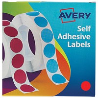 Avery Dispenser for 19mm Diameter Labels, Red, 24-506, 1120 Labels