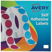 Avery Label Dispenser for Rectangular 12x18mm, White, 24-415, 2000 Labels