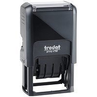 "Trodat EcoPrinty 4750 Self-Inking Word & Date Stamp / ""Checked"" / Red & Blue"