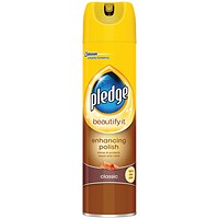 Pledge Wood 5 in 1 Classic Furniture Polish, Aerosol Spray, 250ml