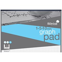 Silvine Professional Graph Pad, A3, 90gsm, 30 Sheets