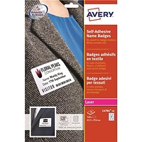 Avery Laser Name Badge Labels / Self-adhesive / 63.5x29.6mm / White / L4784-20 / 540 Labels
