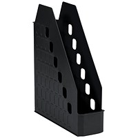 Avery Basics Low Front Magazine Rack, W78xD246xH310mm, Black