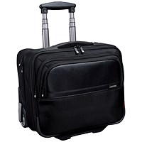 Lightpak Executive Trolley with Detachable Laptop Sleeve, 17 inch Capacity, Nylon, Black