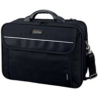 Lightpak Arco Laptop Bag Padded, 17 inch Capacity, Nylon, Black