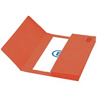 Elba Boston Document Wallets, 320gsm, Foolscap, Red, Pack of 25