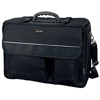 Lightpak Overnight Flight Pilot Case, 17 inch Laptop Compartment, Nylon, Black