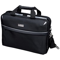 Lightpak Laptop Bag, Top Loading with 15 inch Laptop Compartment, Nylon, Black
