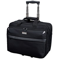 Lightpak Business Trolley Bag with Laptop Compartment, 17 inch Capacity, Nylon, Black