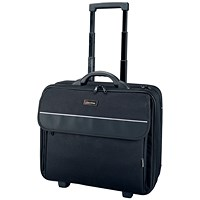 Lightpak Treviso Overnight Laptop Trolley, 17 inch Capacity, Nylon, Black