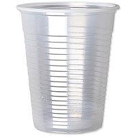 Plastic Non Vending Cups for Cold Drinks / 200ml / Clear / Pack of 100