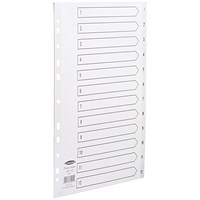 Concord Index Dividers, 1-12, A4, White