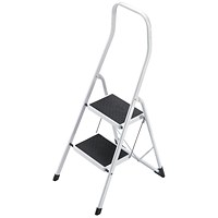 5 Star Folding Safety Steps, Safety Rail, 2 Treads, Capacity 150kg