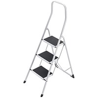 5 Star Folding Safety Steps, Safety Rail, 3 Treads, Capacity 150kg