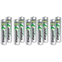 Energizer Advanced Rechargeable Battery, NiMH Capacity 700 mAh LR03, 1.2V, AAA, Pack of 10