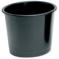 5 Star Waste Bin, Polypropylene, 14 Litres, Black