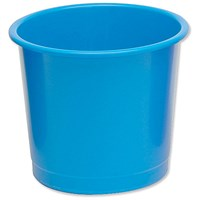 5 Star Waste Bin, Polypropylene, 14 Litres, Blue