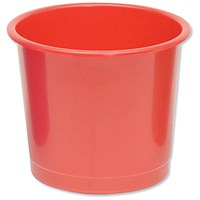 5 Star Waste Bin, Polypropylene, 14 Litres, Red