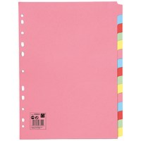 5 Star Subject Dividers, 15-Part, A4, Assorted