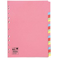 5 Star Subject Dividers / 20-Part / A4 / Assorted