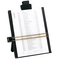 5 Star Desktop Copyholder with Line Guide Ruler, A4, Black