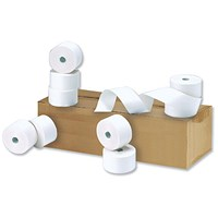 NCR Paper Rolls / WxDxCore: 57x44x12.7mm / 1-Ply / Pack of 20