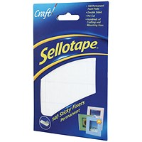 Sellotape Double-sided Sticky Fixers, 12 x 25mm, 140 Pads, Pack of 6