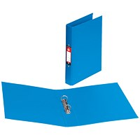 5 Star Ring Binder, A4, 2 O-Ring, PVC, 25mm Capacity, Blue, Pack of 10