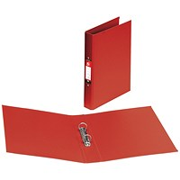 5 Star Ring Binder, A4, 2 O-Ring, PVC, 25mm Capacity, Red, Pack of 10
