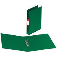 5 Star Ring Binder, A4, 2 O-Ring, PVC, 25mm Capacity, Green, Pack of 10