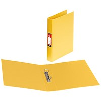 5 Star Ring Binder, A4, 2 O-Ring, PVC, 25mm Capacity, Yellow, Pack of 10